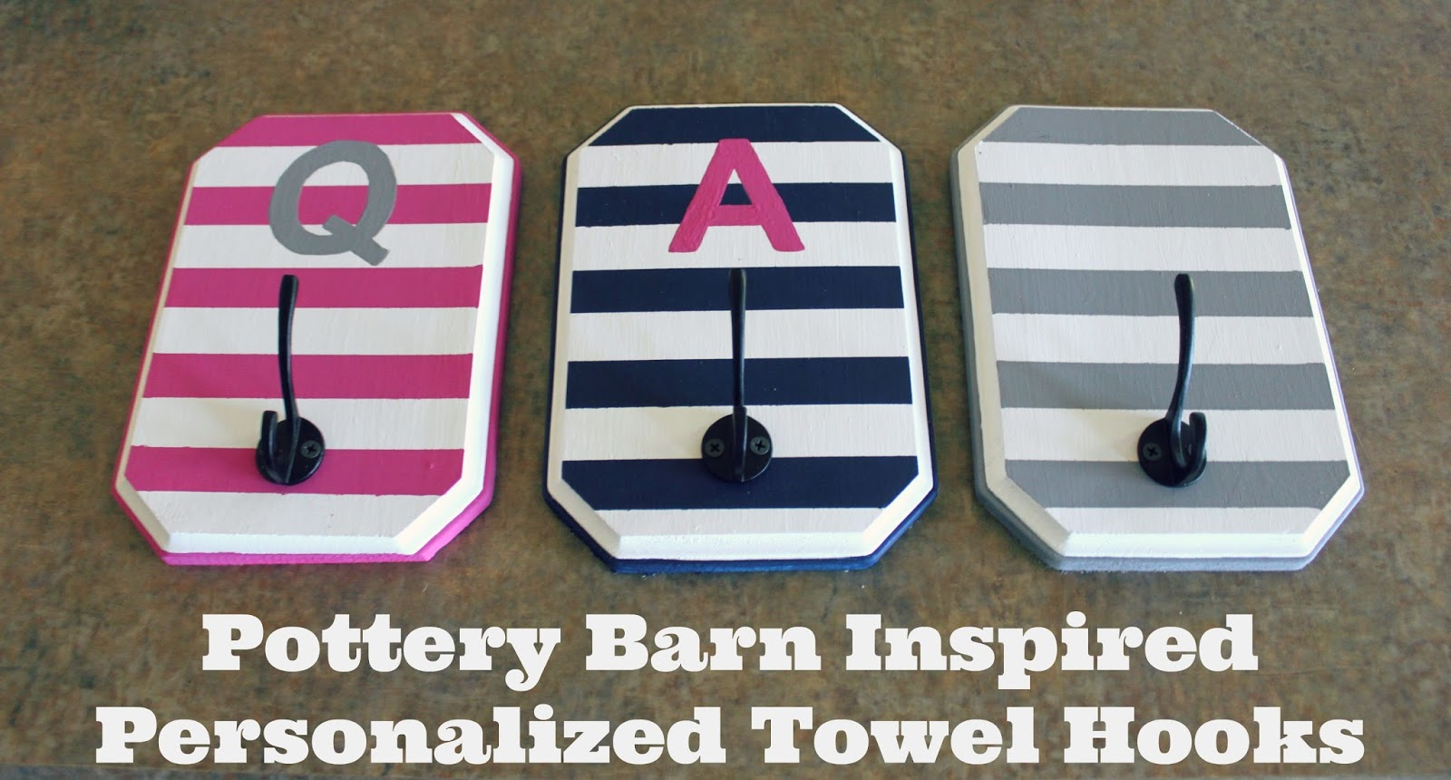 All Things Diy Pottery Barn Inspired Personalized Towel