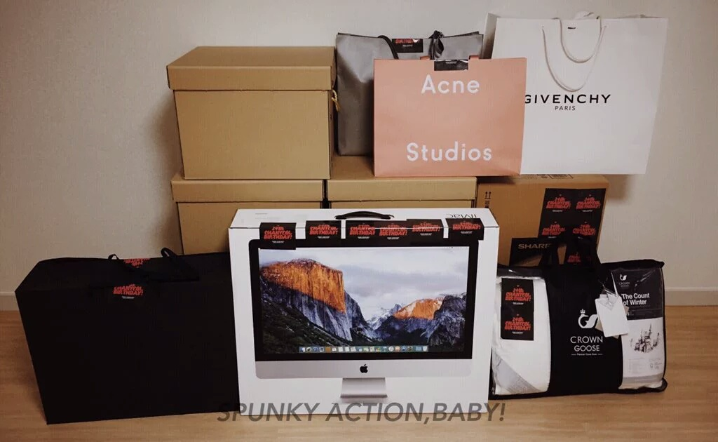 Instiz BIRTHDAY GIFTS OF EXO CHANYEOL LAST MONTH BE PREPARED TO SCROLL