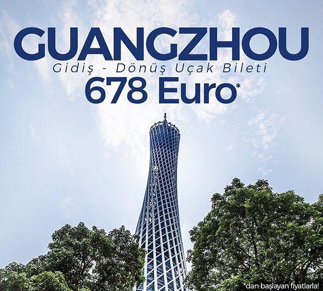 guangzhou uçak bileti kampanyası