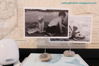 Here's an adorable Rockin' way to display photos without a picture frame...with a Rockin' Photo Holder made just from wire and a rock!  Easy-peasy!