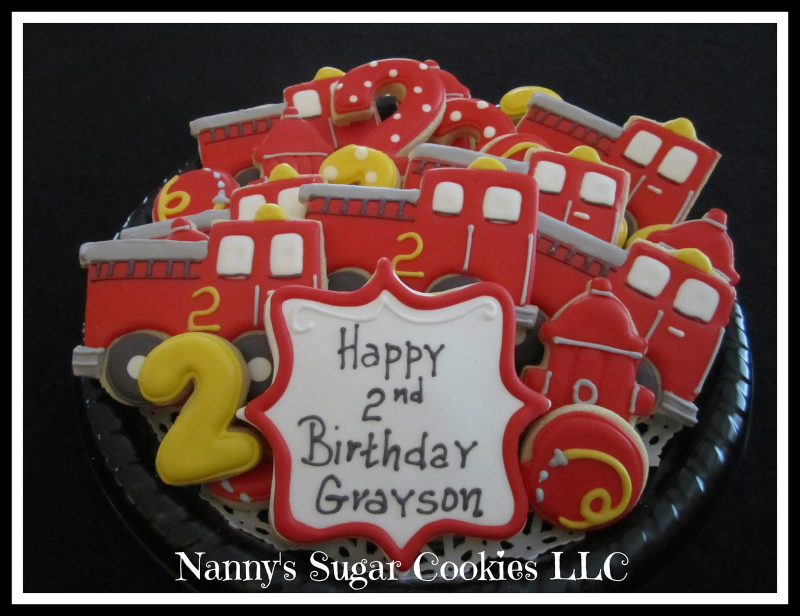 Nannys Sugar Cookies LLC Fire Truck Birthday Party
