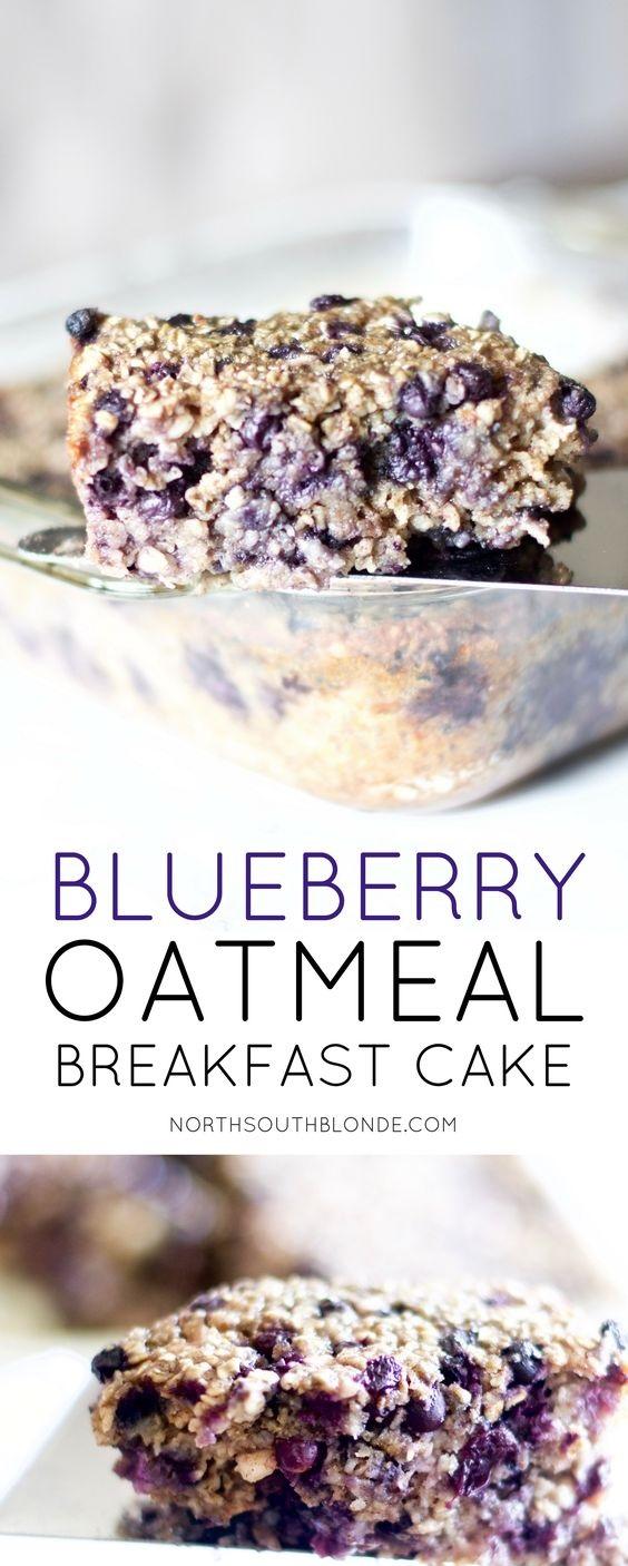 Oatmeal Blueberry Breakfast Cake