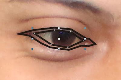 Mulai melakukan Tracing dari Bagian Mata