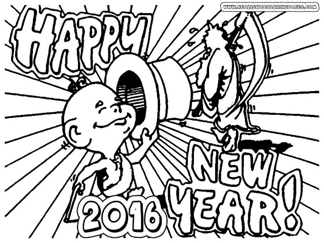 happy new year 2016 coloring pages to print