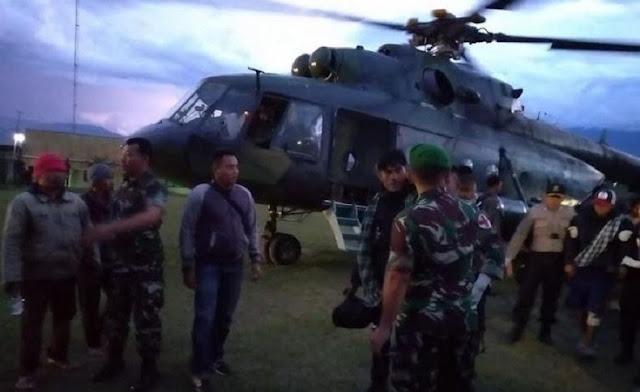 Evakuasi Jenazah, Heli TNI Ditembaki KKB dan Kena Baling-baling