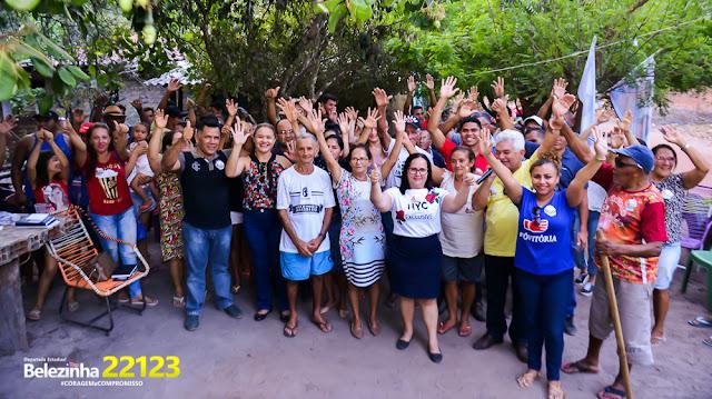 A deputada que o povo quer! Reuniões nas zonas rurais de Chapadinha, Anapurus, Buriti e nos bairros mostram que Belezinha 22.123, está cada vez mais próxima da vitória