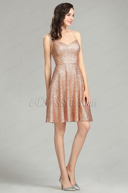 eDressit Sequin Gold Party Cocktail Evening Dress
