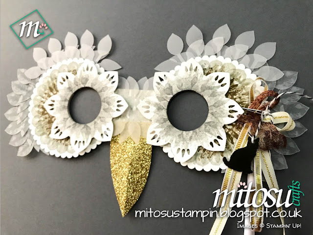 Stampin' Up! Painted Harvest & Leaf Punch SU 3D Mask Idea Order Craft Supplies from Mitosu Crafts UK Online Shop