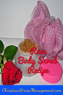 Rose body scrub recipe