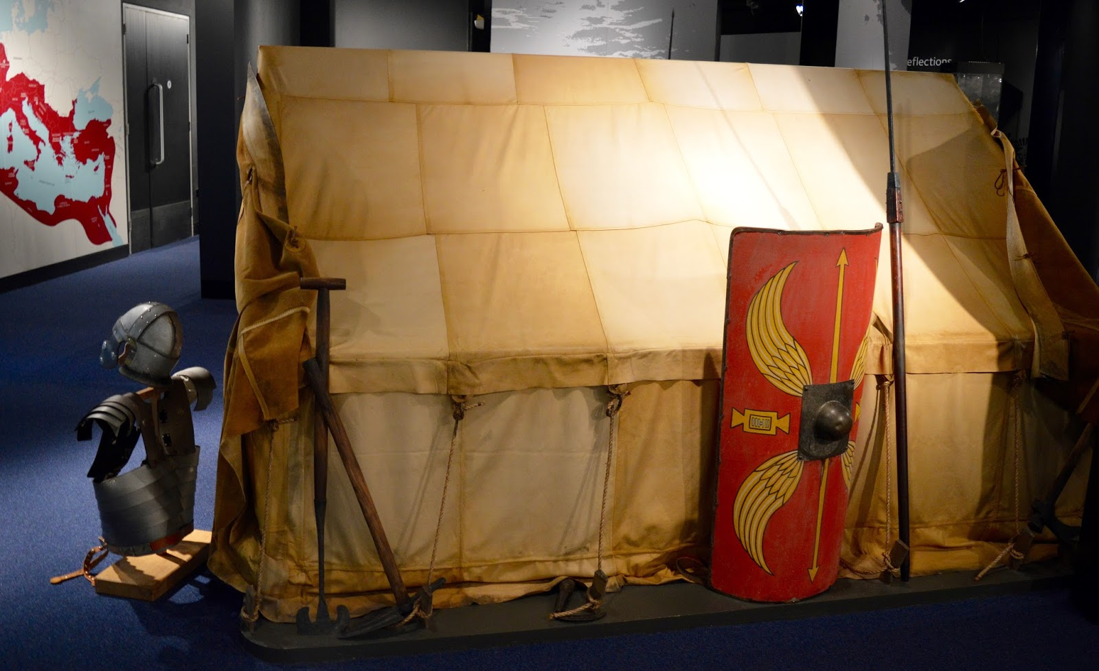 Great Days Out with Northern  | Our Day Trip to Carlisle by Train - Roman tent and dress up at Tullie Museum