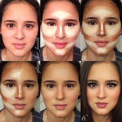 Imagenes de como adelgazar el rostro con maquillaje