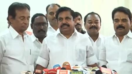 TN CM Edappadi Palanisamy addressing reporters on Cauvery River Water Disputes | #Pongal #TNCM