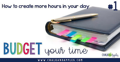 Budget your time