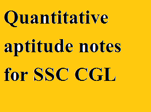 Quantitative aptitude notes for SSC CGL by Sandeep sir PDF.