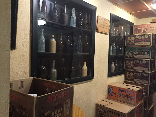 Vintage beer bottles at Sprecher Brewery