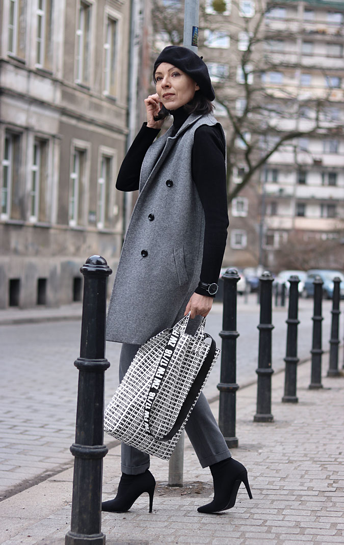 stylizacje z beretem czarnym 2018