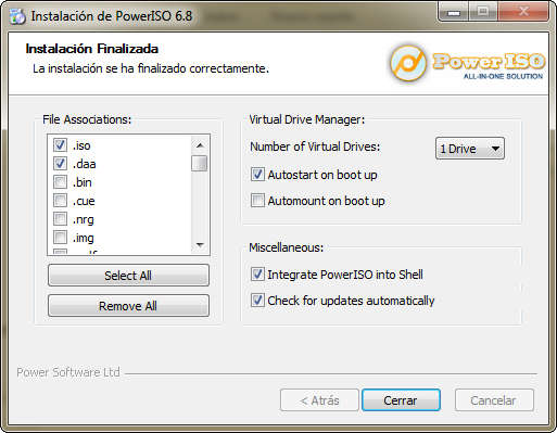 PowerISO v6.8 Full Español
