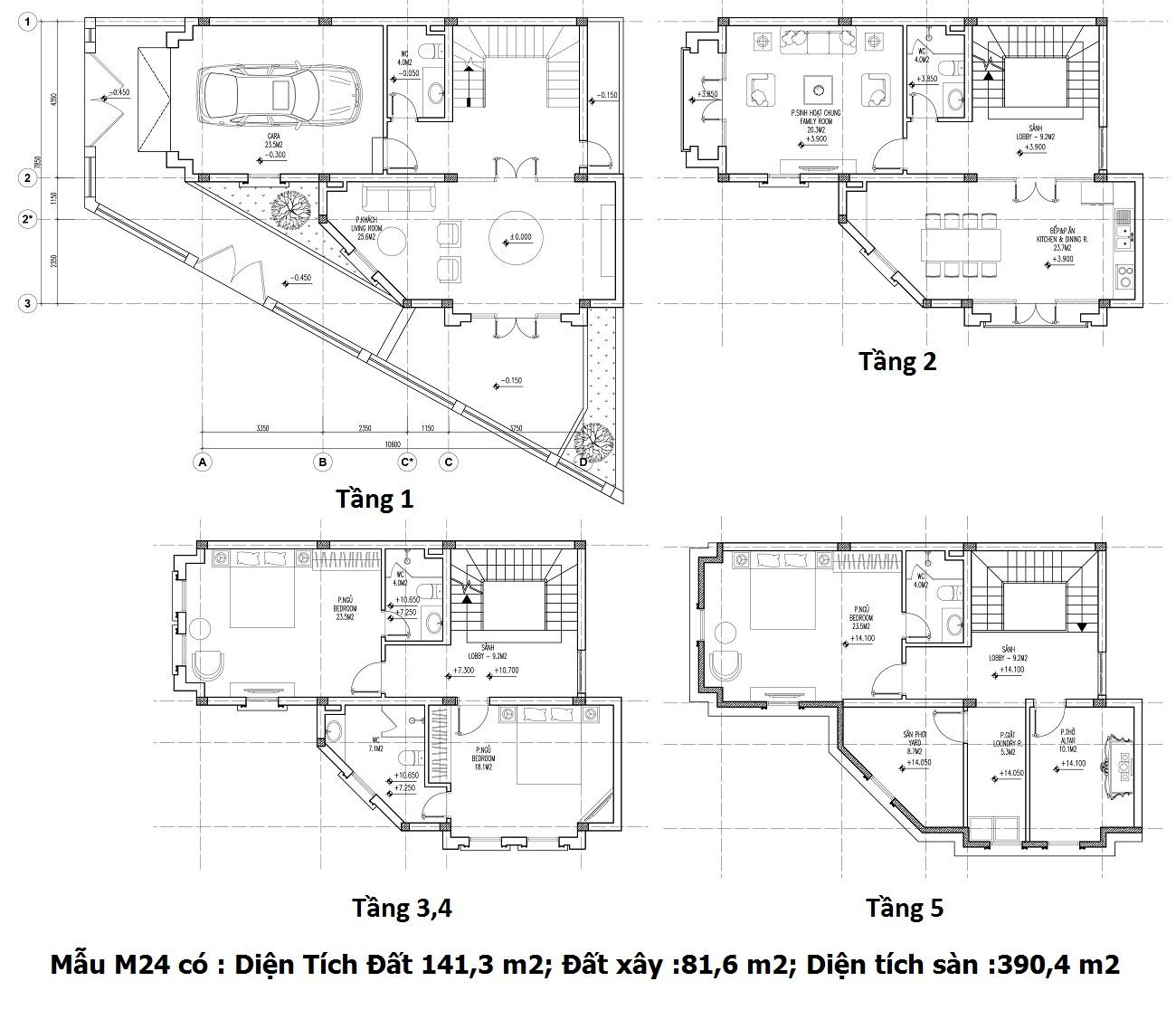 Mẫu thiết kế M24 Shophouse Larissa  Athena Fuland