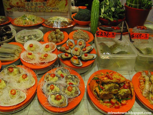 Коулун - морепродукты на улице