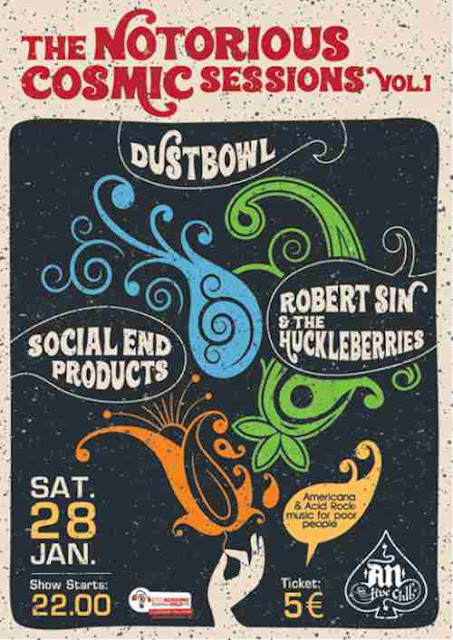 Dustbowl, Social End Products, Robert Sin & The Huckleberries: Σάββατο 28 Ιανουαρίου @ An Club