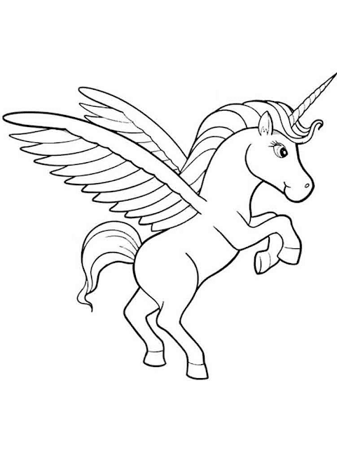 Gambar Mewarnai Unicorn - 4