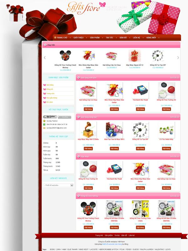 thiết kế website lưu niệm đẹp