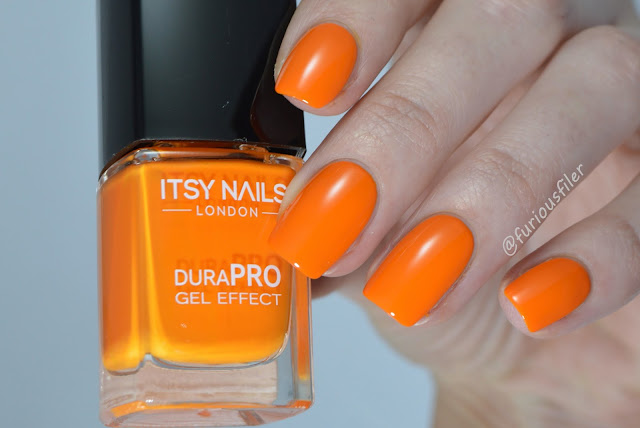 itsy nails no fear orange bright swatch furiousfiler