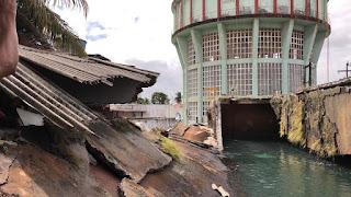 Reservatório rompe e derruba parte de muro da Cagepa em João Pessoa