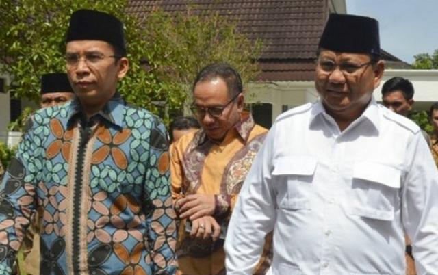 TGB Dukung Jokowi, Warga NTB Tetap Prabowo