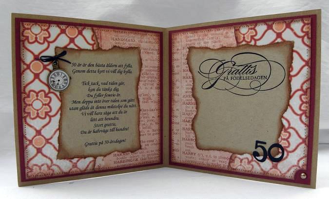text 50 års kort Pyssel à la Raggsocka: 50 års grattis text 50 års kort