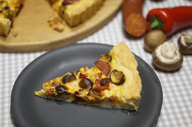 Chorizo-Paprika-Quiche