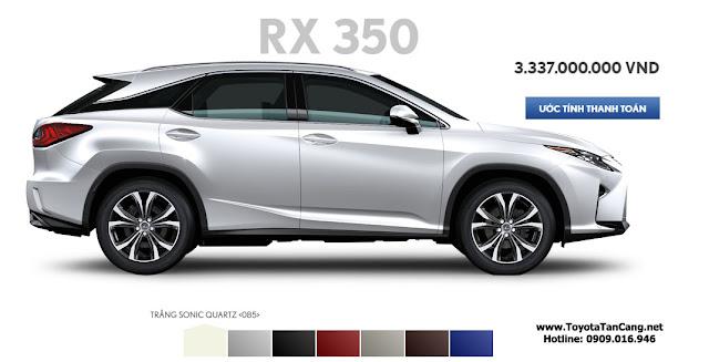 mau xe lexus rx 350 2016 co 7 mau xe