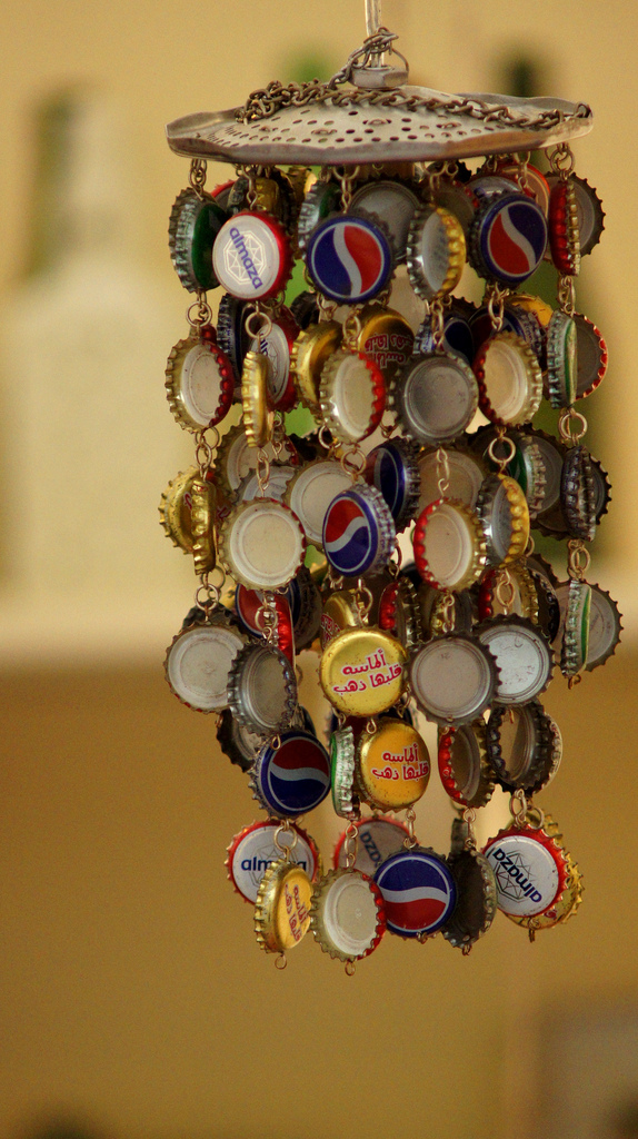 How To Make A Bottle Cap Wind Chime