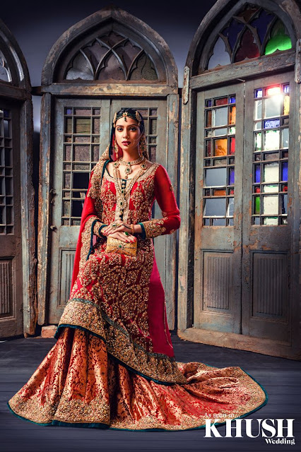 10 best red color bridal dress of Pakistan