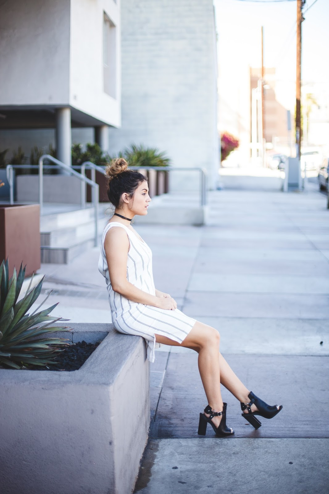 White Plunging Dress from Tobi - My Cup of Chic