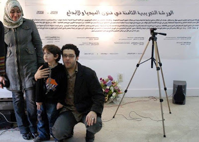 Adam with his dad late Ahmed Basyouny in 2009