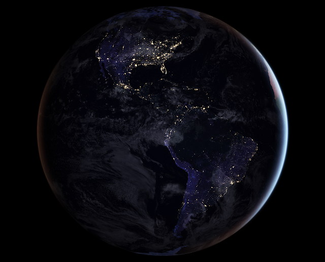 Earth at Night: the Americas