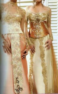 Model Gaun Kebaya Modern Pengantin Sekarang