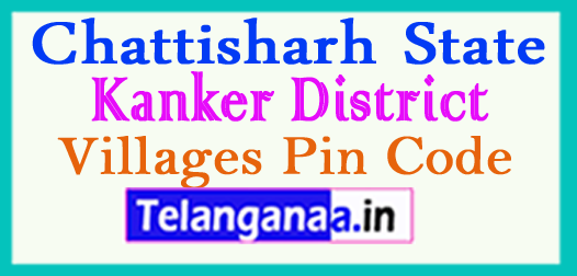 Kanker District Pin Codes in Chattisgarh State