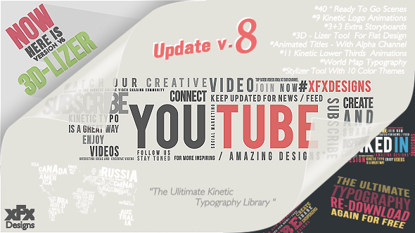 Kinetic Typography Pack Videohive Free Download After Effects ...
