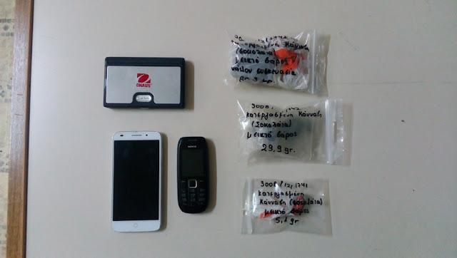 Συλλήψεις δύο ατόμων με 115,3 γραμμάρια κατεργασμένης κάνναβης (σοκολάτα)