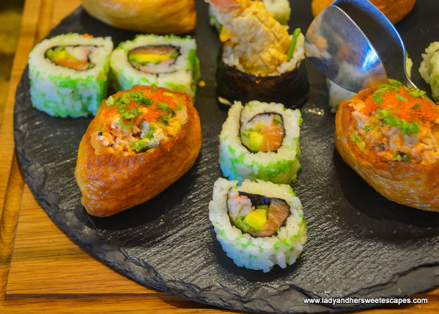 Japanese rolls in Olive Oil Filipino brunch