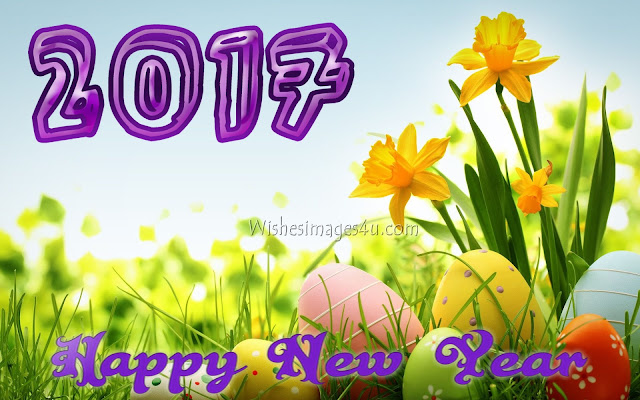 Happy New Year 2017 3D Flower  Wallpapers Background For Desktop/PC