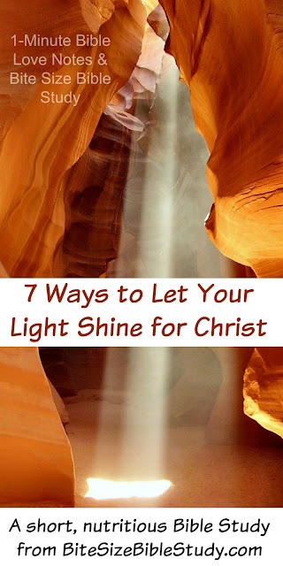 Matthew 5:14, Being Lights for Christ, Shining our Light so men will glorify God
