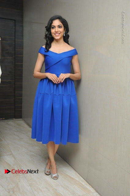 Actress Ritu Varma Pos in Blue Short Dress at Keshava Telugu Movie Audio Launch .COM 0001.jpg