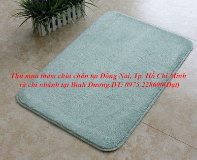 hình ảnh mẫu thảm chùi chân bằng chất liệu nỉ lông thú