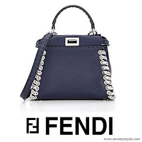 Queen Rania carried FENDI Peekaboo Mini Satchel