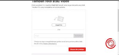 Jika perlu tambahkan Foto dan Video, setelah itu klik Simpan dan lanjut