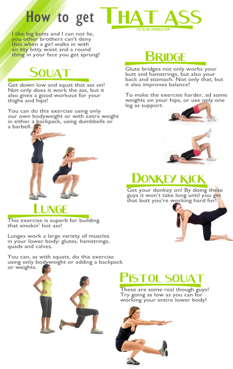 exercises to get a nice booty