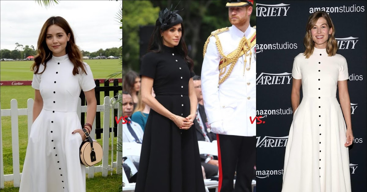 The Teeny tiny à Tout Faire: 👗Jenna Coleman vs Meghan, Duchess of Sussex vs Rosamund Pike